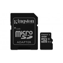 Kingston microSDHC 16GB Canvas Select UHS-I + adaptér