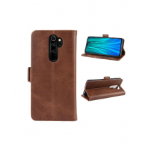 Flip case with pockets for Redmi 8 - brown