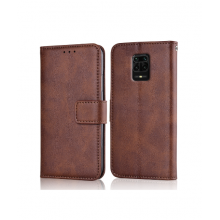 Flip case with pockets Redmi Note 9 Pro / 9s brown