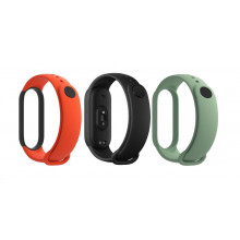 Mi Smart Band 5 Strap Set (Black,Orange,Cyan)