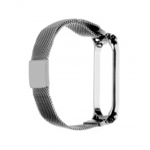 Tactical 686 magnetic steel bracelet for Mi Band 5 - silver